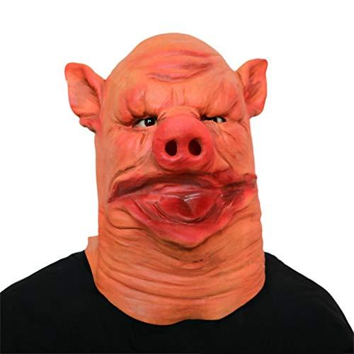 Masken Halloween Latex Kopf Masken, Großer Mund Schwein Dämon Monste Grimasse Geist Spukhaus Kostüm Horror Zombie Lustige Scary Creepy Fancy ()