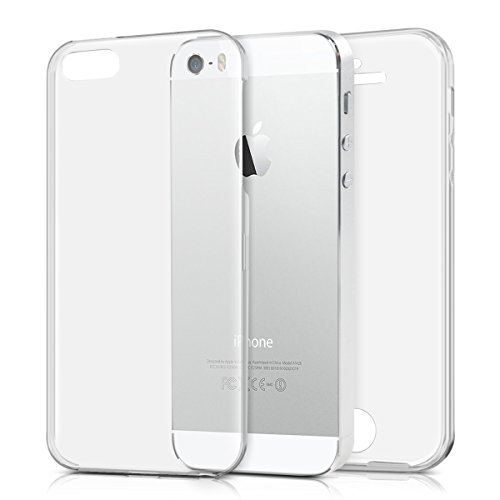 kwmobile Apple iPhone SE / 5 / 5S Hülle - Silikon Komplettschutz Handy Cover Case Schutzhülle für Apple iPhone SE / 5 / 5S (Handy Cover 5)