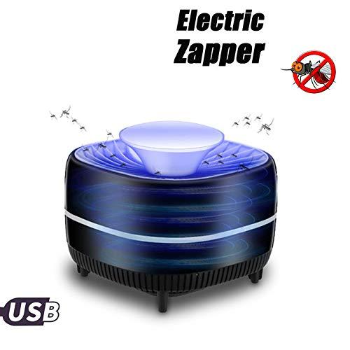 DZWJ Mosquito Zapper Killer USB Quiet,super leiser Moskitofalle Bug Zapper für Indoor-Photokatalysator UV-Licht Moskito-Fliegen-Inhalator Catcher Schwarz (Quiet Bug Zapper)