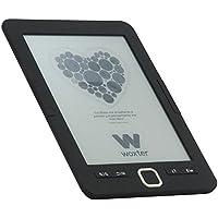 """Woxter EB26-042 - Lector de Libros Electrónicos, 6"""" HD E-Ink Pearl 800x600, 4GB Memoria, Negro"""