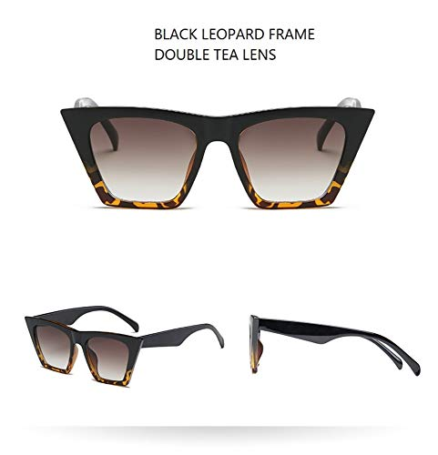 LAMAMAG Sonnenbrille Cat Eye Sonnenbrillen Damen 90er Jahre Mode Cateye Sonnenbrillen Damen Lady Shades, 2