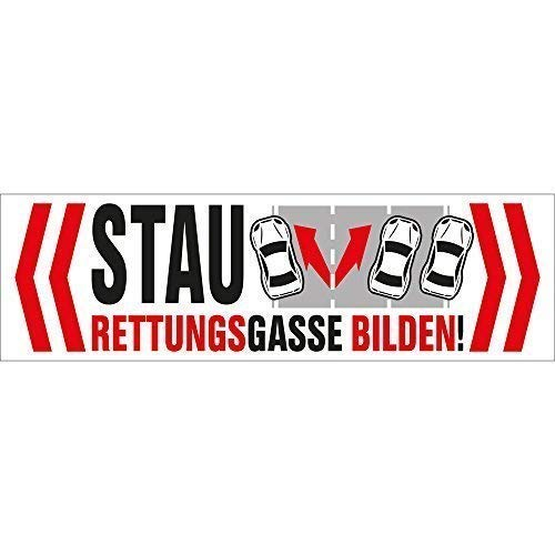 PVC-Aufkleber - STAU ? Rettungsgasse bilden ! - 302066/1 - Gr. ca. 15cm x 4,5cm