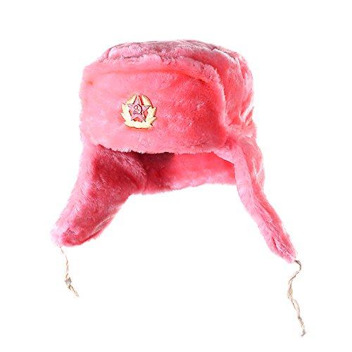 Mütze mit Ohrenklappen, rosa, UdSSR (62, Rosa)