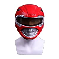 nihiug Dinosaurs Team Helmets Power Rangers Extraordinary Team Red Warrior Mask Halloween Mask Cos,Red-OneSize
