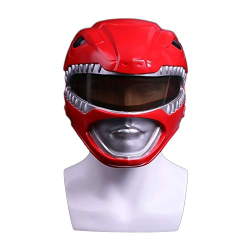 nihiug Dinosaurier Team Helme Power Rangers Außerordentliche Team Red Warrior Maske Halloween Maske Cos,Red-OneSize