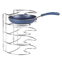 InterDesign Classico Organizzatore Mobile Cucina, Metallo, Argento, 27.94x23.1x19.8 cm