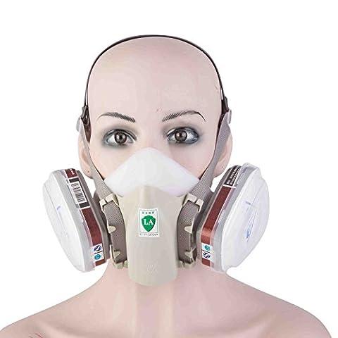 Petrole Inodore - Babimax Masque Sécurité Respiratoire Demi Masque Étanche