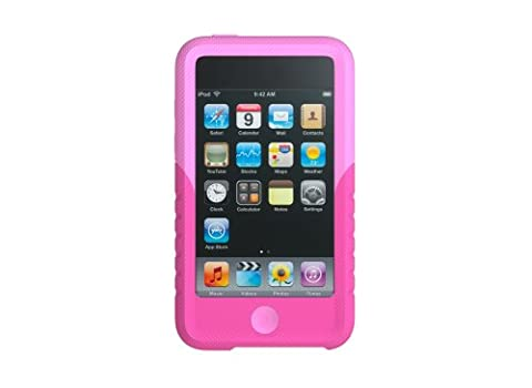 Xtrememac Tuffwrap Durable Silicone Case and Screen Protector for iPod Touch 2G - Pink