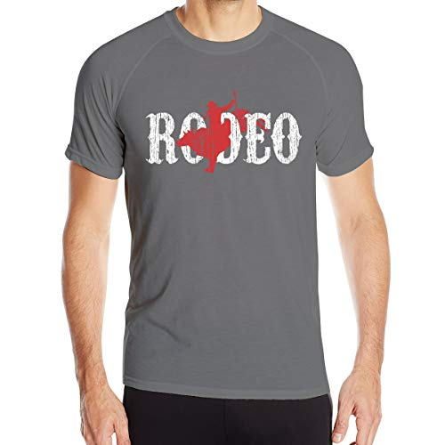 UKFaaa Western Country Cowboy - Camiseta Deportiva para Hombre, Ajuste seco, Absorbe la Humedad, Color Negro