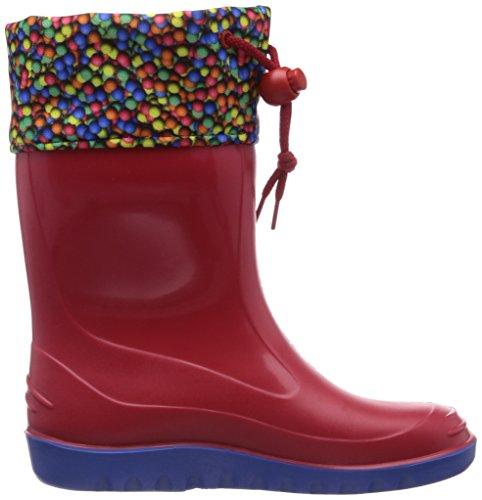 ROMIKA Toni, Bottes en caoutchouc de hauteur moyenne, non doublées mixte enfant Rouge - Rot (rot-blau 413)