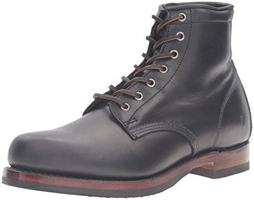 FRYE John Up Lace Mens Combat Boot 87083 Addison Black awxrwqFB