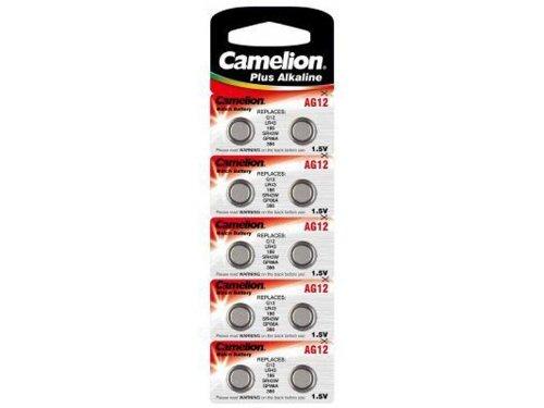 Camelion AG12/LR43/LR1142/386 Pack de 10 Piles jetables pour Appareil photo