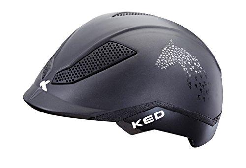 Amesbichler KED Reithelm PINA Cycle & Ride für den Reitsport und Fahrrad-stufenlos verstellbar schwarz mit Seitlichem Pferdekopf, Gr. S = 50-53 cm | Reitkappe - Fahrradhelm