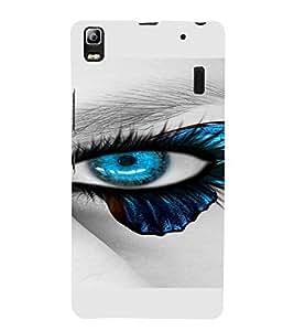 PrintVisa Blue Eyes Design 3D Hard Polycarbonate Designer Back Case Cover for Lenovo A7000