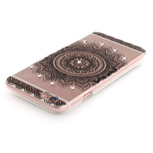 Nutbro iPhone 6 Case,iPhone 6S Case Cover Ultra Thin Clean Soft TPU Crystal Rose Gold Plating Glitter Diamond Cover TPU-TX-iPhone-6S-60
