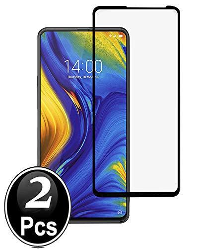 Ferlinso[2 Pack Cristal Templado Xiaomi Mi Mix 3, [Cobertura Completa] Estuche Libre de Burbujas Película Protectora de Protector de Pantalla con garantía de remplazo de por Vida (Negro)