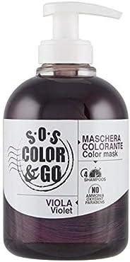 S.O.S COLOR & GO Maschera Colorante Riflesssante e ravvivante Viola 30
