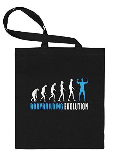 BODYBUILDING EVOLUTION 553 Stoffbeutel (Schwarz-Blau)