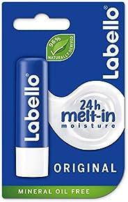 LABELLO Lip Care, Moisturizing Lip Balm, Original with Shea Butter, 4.8g
