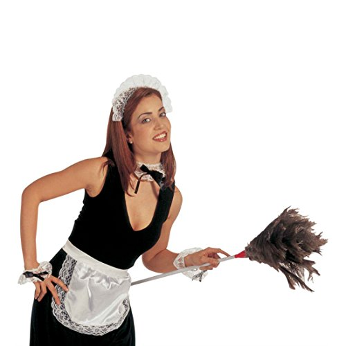 NET TOYS Kostüm Sexy Zimmermädchen Partyartikel Kellnerin Dienstmädchen Zimmer Dienst Mädchen Putzfrau Zofe Kostüm Set