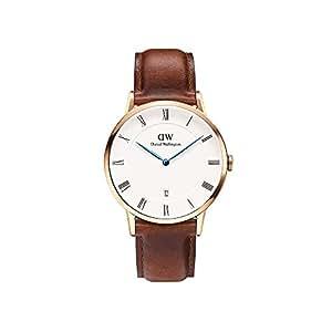 Daniel Wellington Herren Analog Quarz Smart Watch Armbanduhr mit Leder Armband DW00100083
