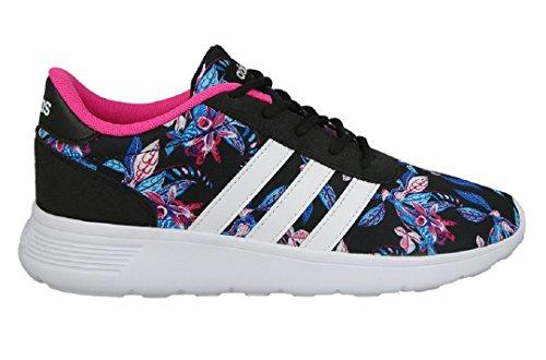 adidas Lite Racer W, Sneaker Bas du Cou Femme Noir (Negbas/ftwbla/rosimp)