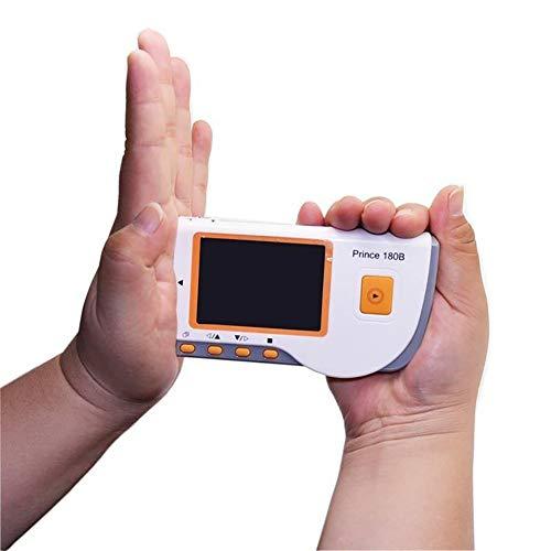 ZZYYZZ Tragbarer Farb-EKG-Handmonitor mit 10-stündiger kontinuierlicher Messung, Software und USB-Kabel
