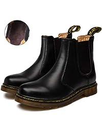 Zkyo Chelsea Boots Damen Herren Kurzschaft Winter Stiefel Warm Gefüttert  Ankle Stiefeletten Rutschfeste Worker Boots Gr d9964a3cb3