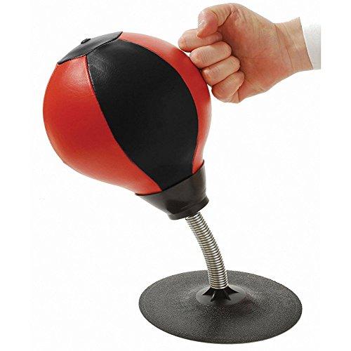 Schreibtisch Geschwindigkeit Tasche mit Stand Stress Buster Desktop Punching Ball mit Pumpe Kampf Reflex Tasche für Heavy Duty Stress Relief freistehende Kit für Erwachsene und Kinder