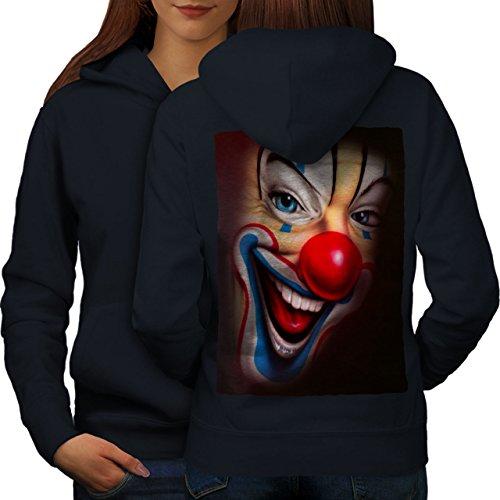 Clown Unheimlich Gruselig Grusel Lächeln Missgeburt Frau L Kapuzenpullover Zurück | - Erwachsene Für Professionelle Clown-kostüme