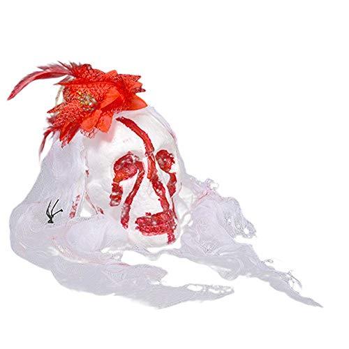 TYUBN Blutiger Geist Kopf Streich Prop Halloween Dekor Hängende Phantom Scary Dekoration für Kostüm Spuk Haus Bars Halloween Party (Halloween-kostüme Scary Clown Günstige)