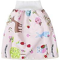1pcs Jupe à couches pour bébé, jupe d'apprentissage de la propreté Jupe à couches Pantalon de couche de pot réutilisable…