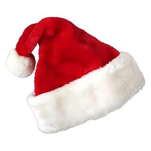 Weihnachtsmützen, Cusfull Weihnachtsdeko Nikolausmützen Weihnachtsmann Mützen für Erwachsenen / Kinder (Mütze Plüsch Santa)