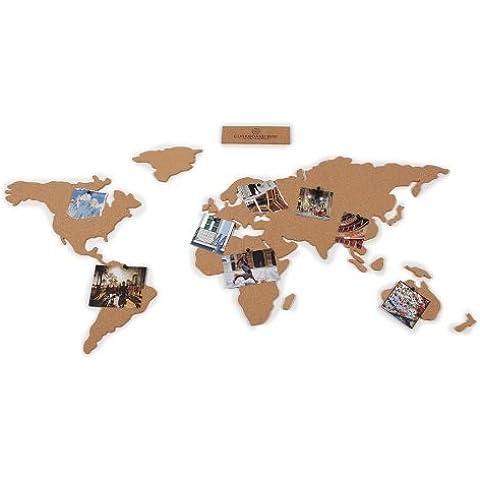 Fochu®Mapa Adhesivo / Cork / Mapa de las partes de Regalo Del mundo para usted / Amigos / Mama Papa hijos Manifersto creativa, Aventura!