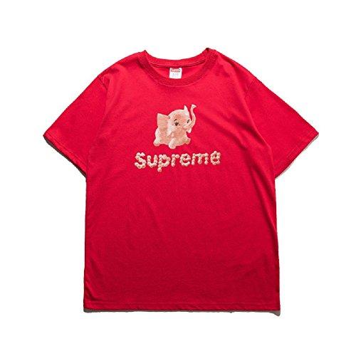 BOMOVO Herren SUPERME Freizeit Und Funktions T-Shirt Mit Rundhalsausschnitt, In Verschiedenen Farben Rot