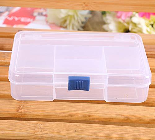 Dtuta Einfach zu tragen und einfach zu organisieren Aufbewahrungsbox Halter Container Pille Schmuck Nail Art 5 Raster