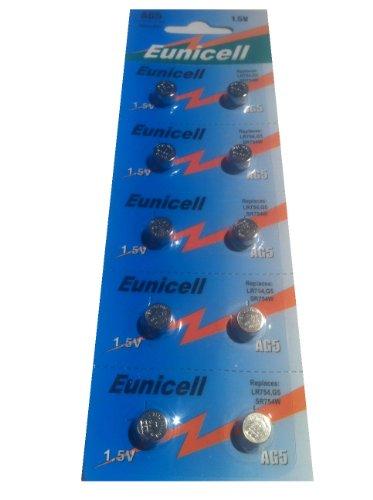 AG5 (5 Blistercards = 50 Batterien) Markenware Eunicell