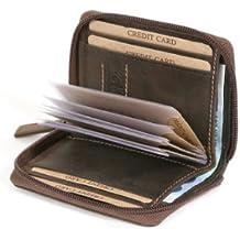 Porta carte di credito con cerniera e tasca per le