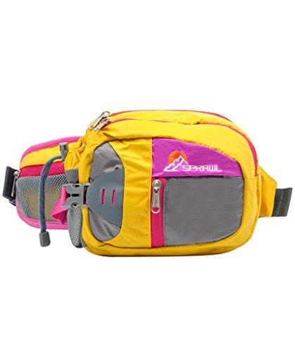 SPRAWL Outdoor Hüfttasche Wasserabweisende Gürteltasche Bauchtasche für Reise und Sport Unisex Gelb