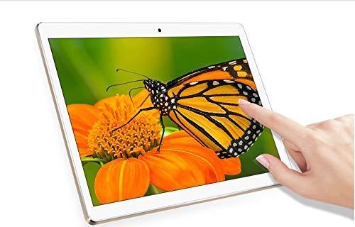 Android Tablet 10 Zoll, 2GB+32GB, 3G entsperrt Phablet mit Zwei SIM-Kartensteckplätzen, 1920*1200 Full HD IPS Touchscreen , Dual Kamera 2MP und 5MP,Speicher WiFi/ WLAN/ Bluetooth/ GPS TYD-107(weißen) (Tablet Full Hd)