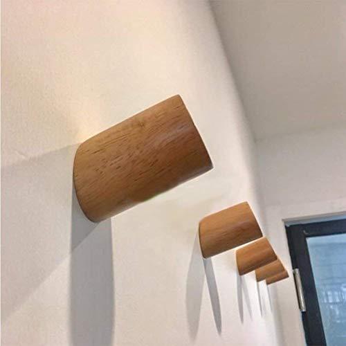 vanyda 5pcs de madera soporte de pared pantalla soporte percha madera gancho soporte Keeper montado en la pared para colgar soporte para sombrero ropa bolsa