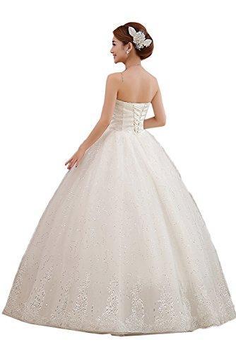 Ivydressing Romantisch Lang Steine Abendkleider Brautkleider Hochzeitskleider Stil-C