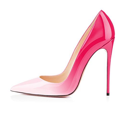 uBeauty Scarpe da Donna - Scarpe col Tacco - Classiche Scarpe col Tacco bianco-rosa