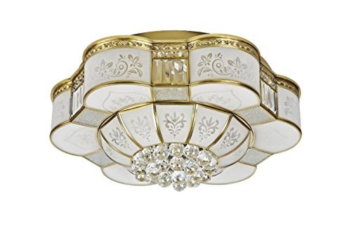 FYN-Brass-Ceiling-Lamp-for-Living-Room-Bedroom-Kitchen-Diameter-67CM-60W-Crystal-Lamp-Flower-Shapes-Energy-Class-A