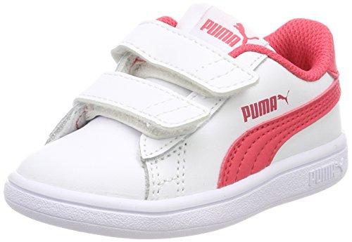 Puma Smash V2 L V Inf, Sneakers Basses Mixte Bébé, White, 24 EU