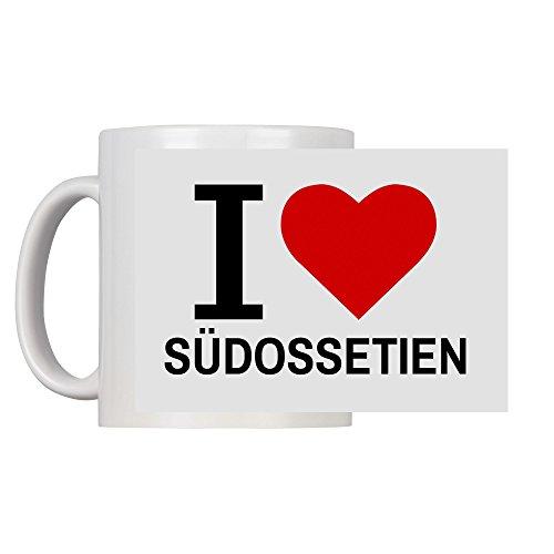Tasse Classic I Love Südossetien weiß