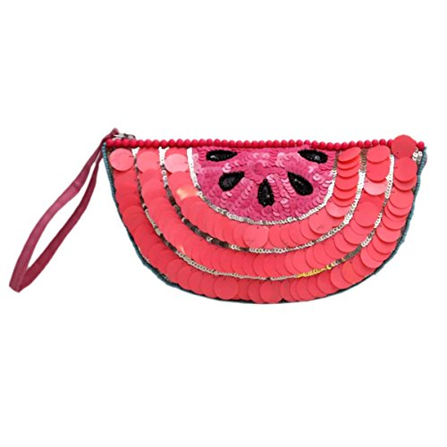 Diwaah Women's Handcrafted Pink Pouch (DWH000001415)