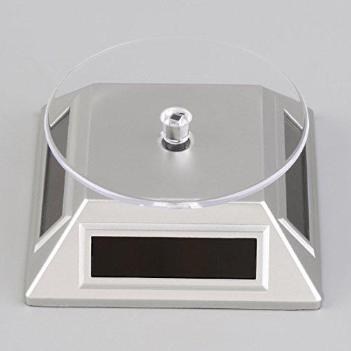 Base-uhr Stehen (Noradtjcca Solarbetriebene 360   rotierenden Schmuck Handy Ring Armband Uhr Display Stehen umweltfreundlich)