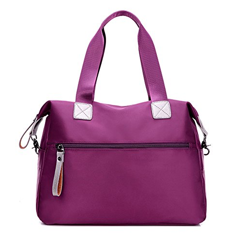 Donna Casual Borsa A Tracolla In Nylon Messenger Bag Blu Viola