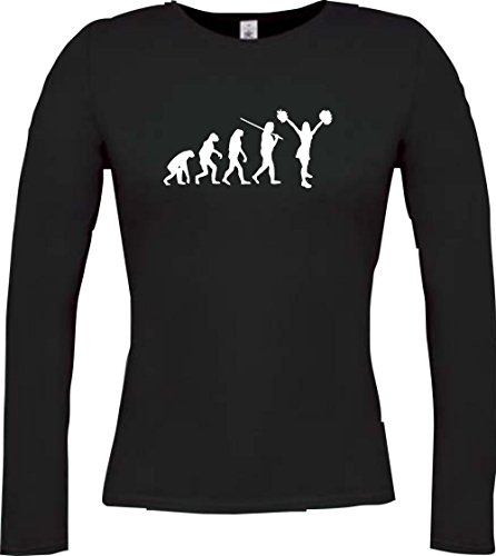 Krokodil Lady Langarmshirt Evolution Cheerleader Cheerleading Kostüm Fun Sport Tanz Farbe schwarz Größe - Evolution Of Dance Kostüm